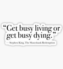 Busy Living Sticker