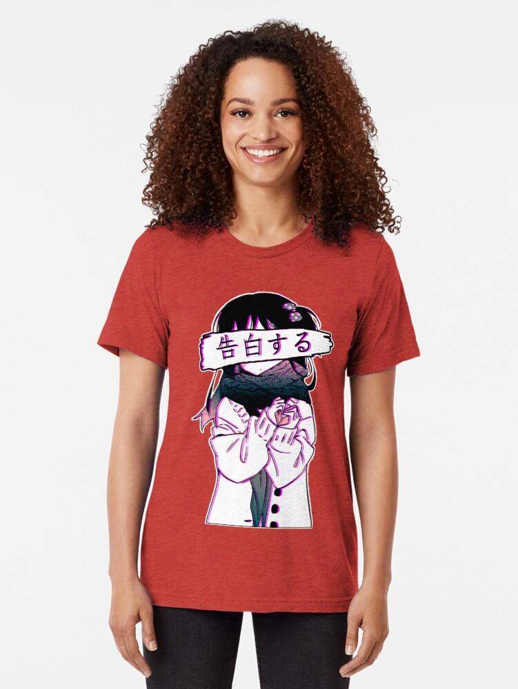 Alternative Ansicht von CONFESSION - Traurige japanische Ästhetik Vintage T-Shirt