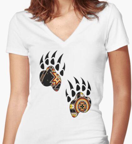 Bear Spirit Women's Fitted V-Neck T-Shirt