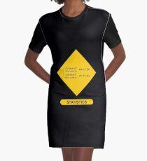 Sign Triangular Distribution Statistics T-Shirt Kleid