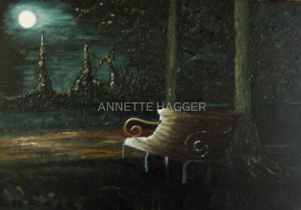 'WAITING'  oil painting by ANNETTE HAGGER
