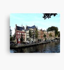 Old houses at the Herengracht Canvas Print