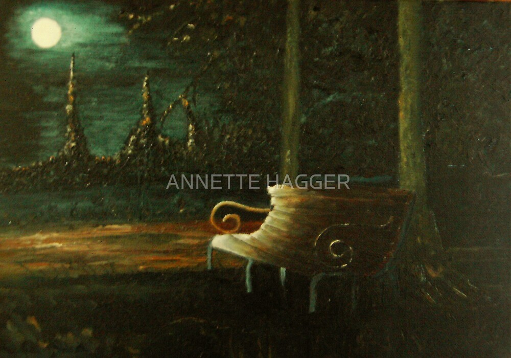 WAITING - oil painting by ANNETTE HAGGER