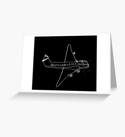 plane drawn by a kid Greeting Card