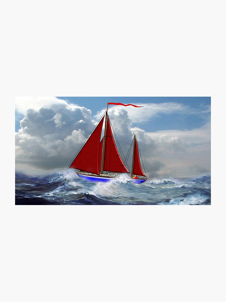 S/Y Magali, My Cutter Rigged Ketch | Photographic Print