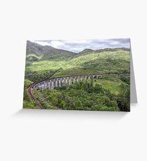Glenfinnan Viaduct Scotland Greeting Card