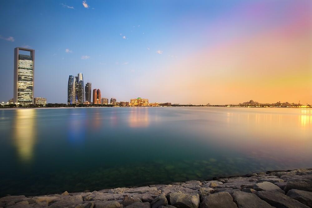 Sunset in Abu Dhabi by josefholmes