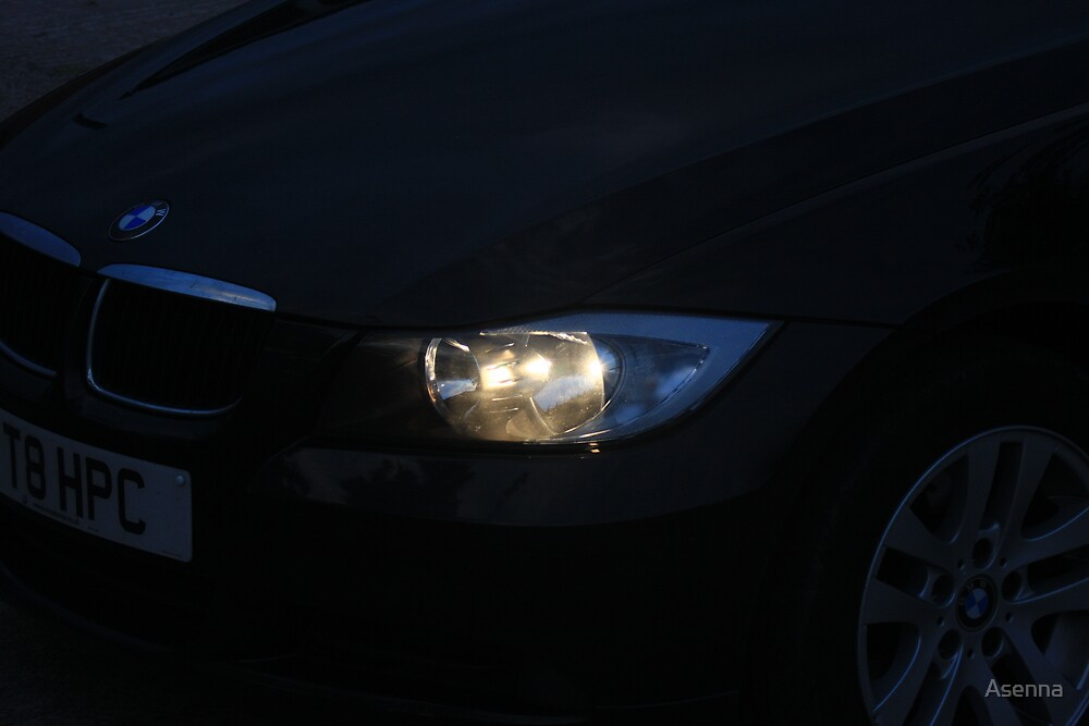 Headlight at dusk by Asenna