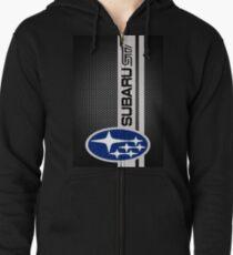 Sudadera con capucha y cremallera Logotipo de Subaru Sti