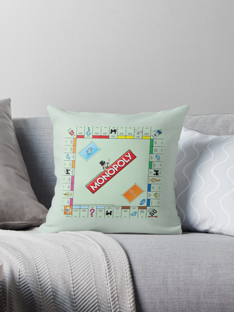 Monopoly Board Throw Pillows