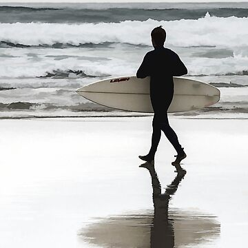 Lone Surfer by maryloufletcher