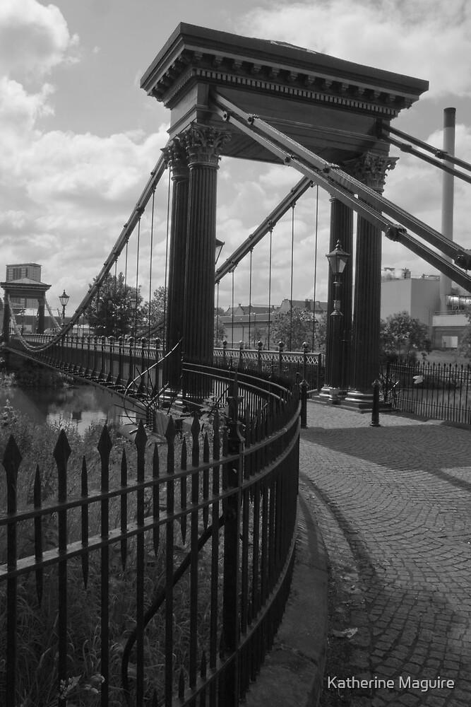 Suspension bridge by Katherine Maguire