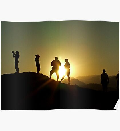 Sunset Photographers Poster