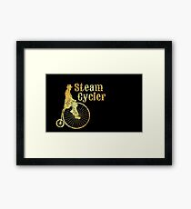 Steam Cycler Bicycle Design (Ancient Gold) Framed Print