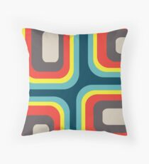 Square Pattern Blue #2 Throw Pillow