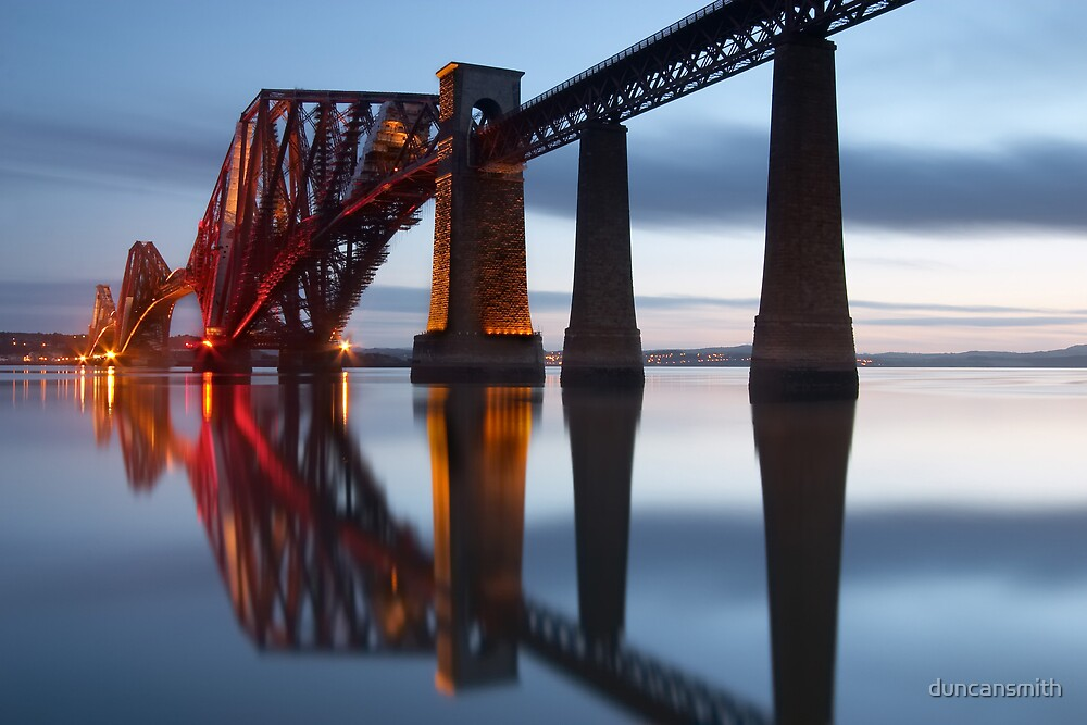 Rail Bridge Dawn by duncansmith