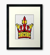 FURY crown logo Framed Print