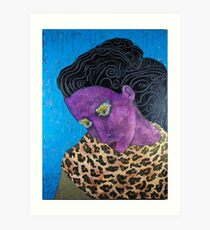 Purple Animal Girl Art Print