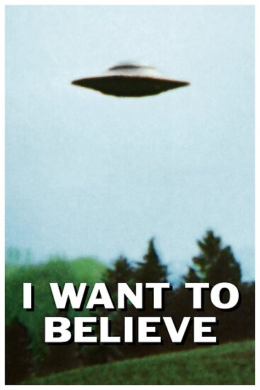 Quot I Want To Believe Original Poster Quot Poster By