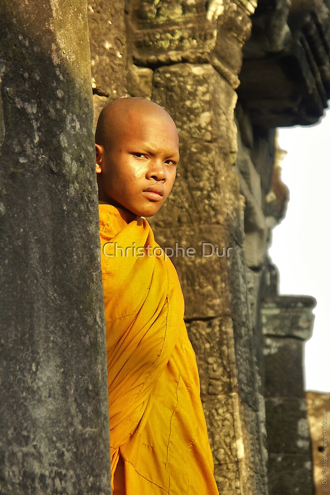 Young cambodian Monk by Christophe Dur