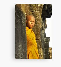 Young cambodian Monk Canvas Print