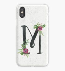 Monogram M with Floral Wreath iPhone Case/Skin