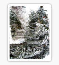 frozen needles Sticker