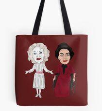 Whatever Happened to Baby Jane Inspired Bette Davis Joan Crawford Illustration Tote Bag