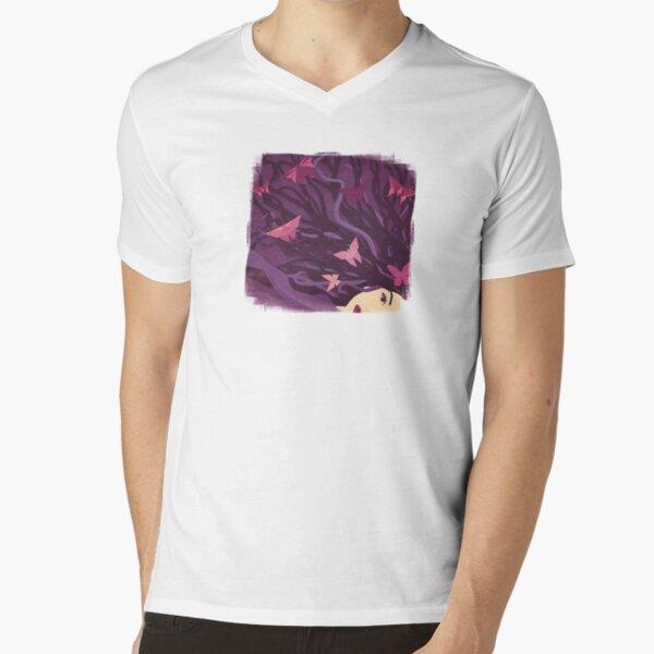 Butterflies in my hair V-Neck T-Shirt