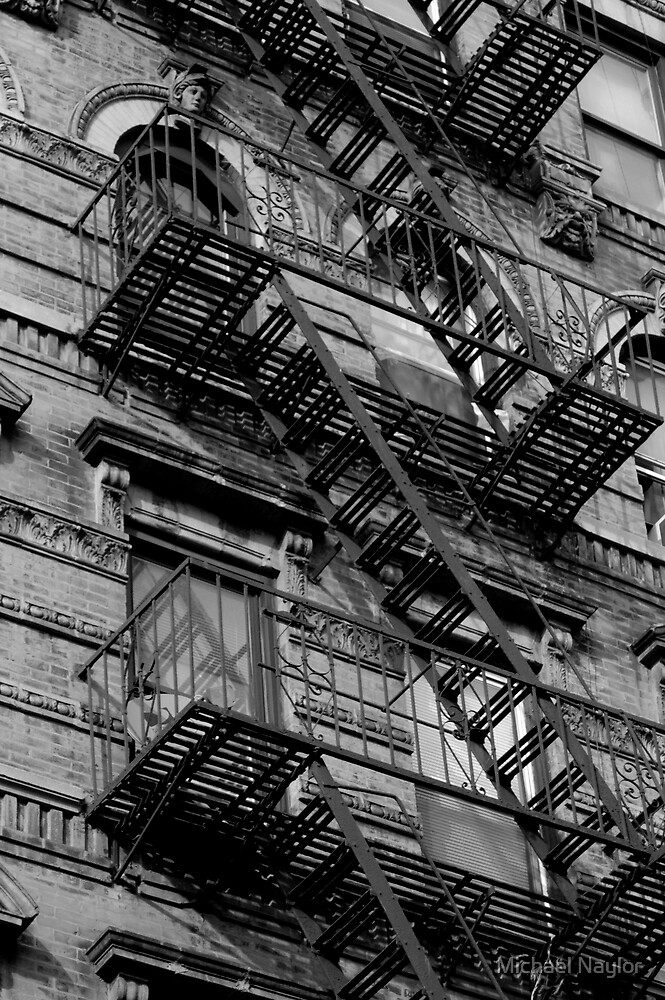 NYC Staircase by Michael Naylor