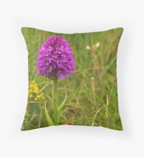 Pyramidal Orchid, Inishmore, Aran Islands  Throw Pillow