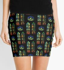 Stained Glass Windows - Sagrada Familia, Barcelona, Spain Mini Skirt