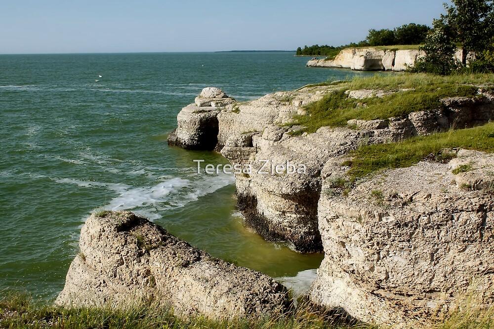 Limestone Cliffs by Teresa Zieba