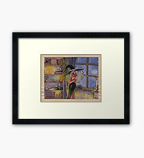 Cozy Witch––Selene and Nox Framed Print