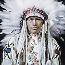 Portrait of Wolfe Teeth of Nakoda Nation, 1910 by Marina Amaral