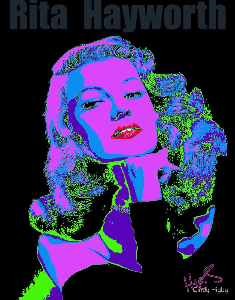 Rita Hayworth by Cindy Higby