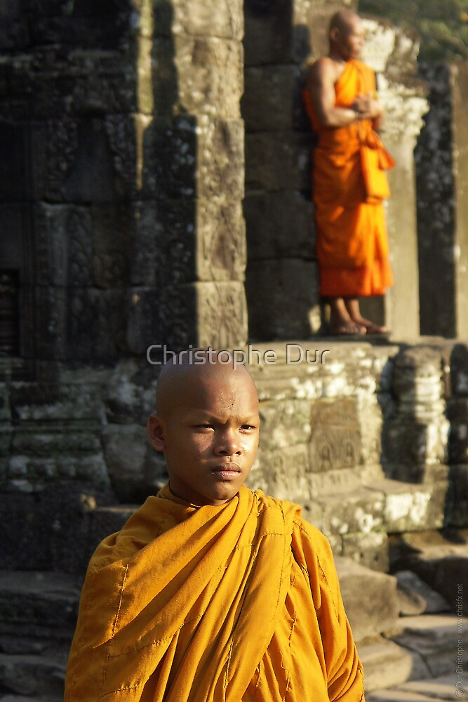 Young Monk - Cambodia by Christophe Dur