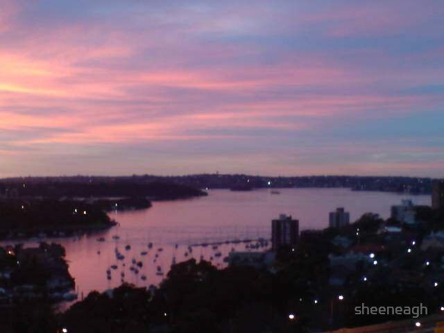 Sunrise over sydney harbour by sheeneagh
