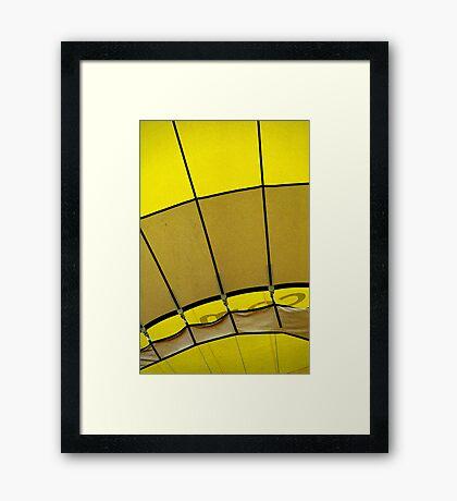 Hot air: Yellow Framed Print