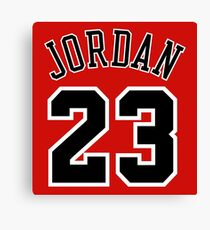 Jordan 23 Jersey Canvas Print