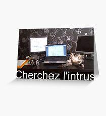 Cherchez l'intrus Greeting Card