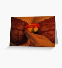 Taming the Rose Greeting Card