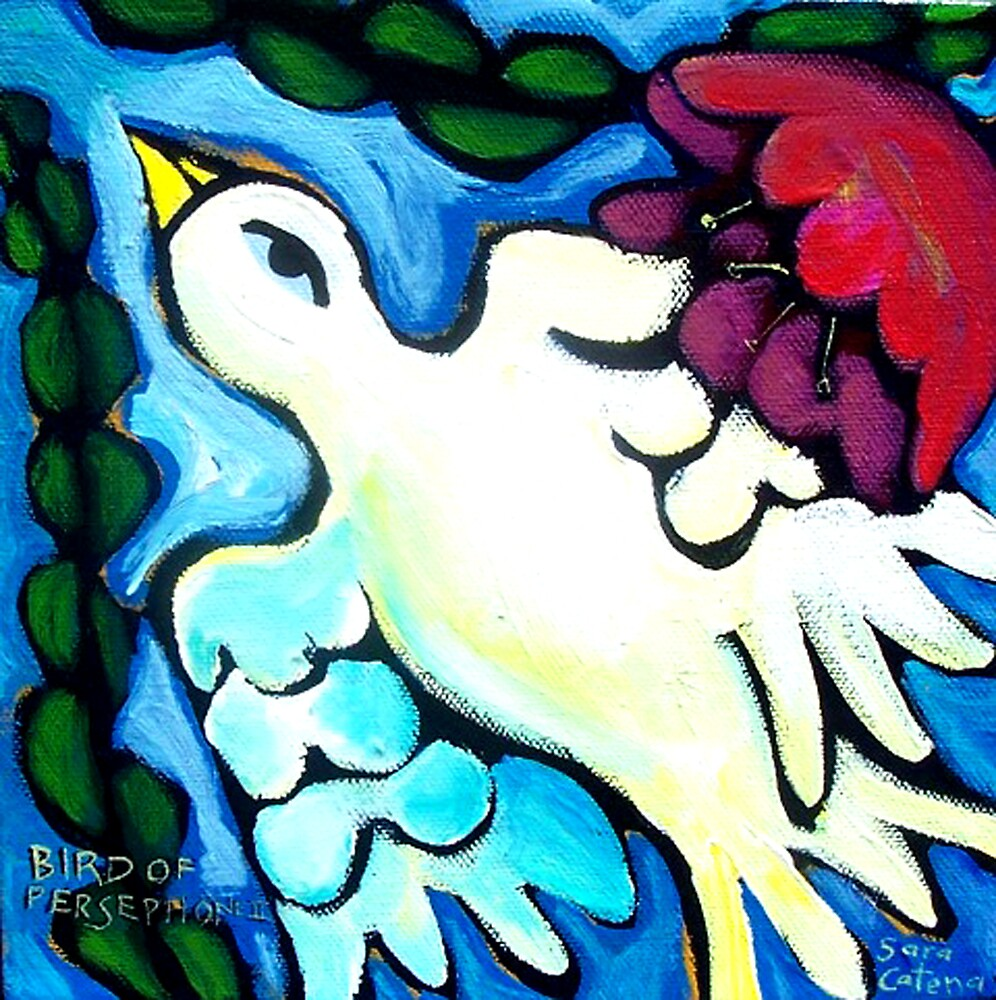 BIRD  OF  PERSEPHONE  2 by ART PRINTS ONLINE         by artist SARA  CATENA