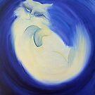 Night Cat White Cat by Rowi
