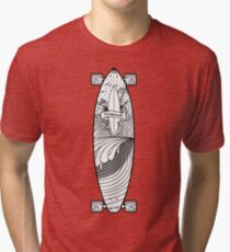 Longboard Sunset Tri-blend T-Shirt