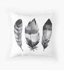 Bohemian Feather Throw Pillow