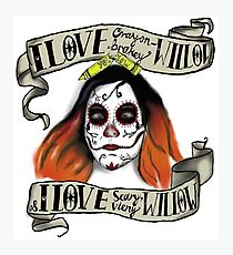 Willow's Day of the Dead Photographic Print