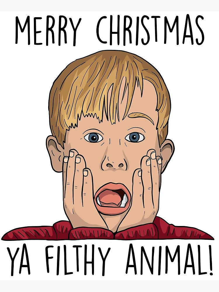 MERRY CHRISTMAS YA FILTHY ANIMAL by funkythings