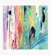 Pastel Rainbow Oil Abstract Photographic Print