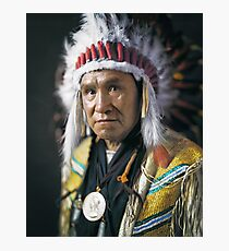 Portrait of Joe Big Plume of Tsuu T'ina Nation - 1910 Photographic Print